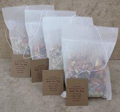 Natural Herbal/ Botanical Bath Tea Bags. Four (4) Bath Tea Bags, mix or match.