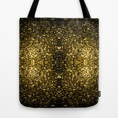 Beautiful Yellow Gold sparkles Tote Bag by #PLdesign #GoldSparkles #SparklesGift