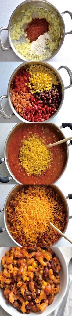 CHEESY VEGETARIAN CHILI MAC HEALTHY RECIPE  #cheesyvegetarian #cheesyvegetarianhealthy #cheesyvegetarianchili #cheesyvegetarianrecipes #cheesyvegetarianchilimac Fall Recipes, Summer Recipes, Mexican Food Recipes, Vegetarian Chili, Vegetarian Recipes, Healthy Recipes, Chili Mac, Dinner Recipes Easy Quick, Easy Family Meals