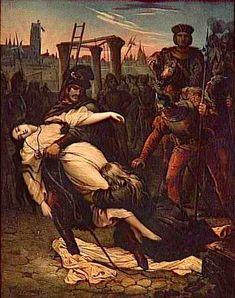 Esmeralda   Quasimodo saving Esmeralda. An illustration by Aime de Lemud from a ...