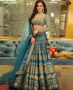 Pin By Ezyshine On Wedding Fashion In 2020 Lehenga Choli Wedding Indian Wedding Outfits Lehnga Dress Indian Lehenga, Blue Lehenga, Silk Lehenga, Sari, Anarkali, Lehenga Choli Designs, Lehenga Choli Wedding, Party Wear Lehenga, Indian Bridal Outfits