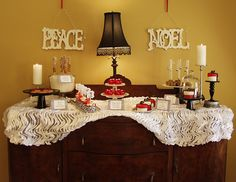 Christmas Dessert Table . I can use the buffet table in my kitchen for this