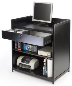 """36"""" Cash Register Stand w/Locking Drawer, Adjustable Shelf, Ships Assembled - Black $309.75"""