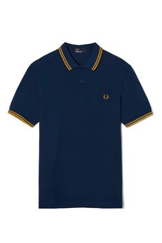 Fred Perry - M3600 French Navy / Mustard / Mustard
