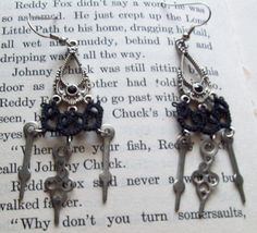 Hands of Time tatted earrings