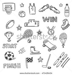 Sports Clip Art Hand Drawn Clip Art Sporting by