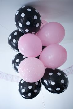 Black And Pink Party Balloons