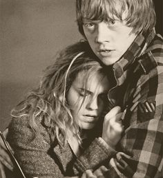 Ron and Hermione....screw what JK Rowling says <3