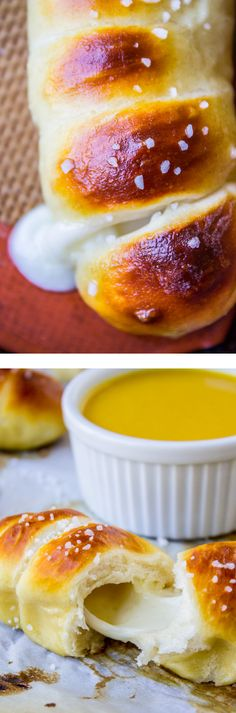 Mozzarella-Stuffed Soft Pretzels