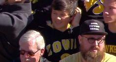 Iowa Fan Wears Awesome 'Beer, Titties, Metal' Hat To Wisconsin-Iowa Game - http://viralfeels.com/iowa-fan-wears-awesome-beer-titties-metal-hat-to-wisconsin-iowa-game/