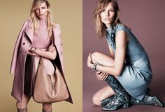 Natasha Poly, left, and Anja Rubik, right, star in Gucci's newest campaign.