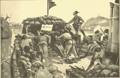The first step in this memorable siege was the daring march of 4000 Arabs to the Nile, by which, on March 12, they cut off the 800 men at Halfaya, a village to the north of Khartoum, from the city.  A steamer was sent down to reconnoiter, and the moment she reached the front of the Arab position a volley was fired into her, wounding an officer and a soldier. The steamer returned the fire, killing five.  Thus hostilities began.