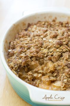 Apple Crisp is an incredibly simple, classic, and always impressive dessert.