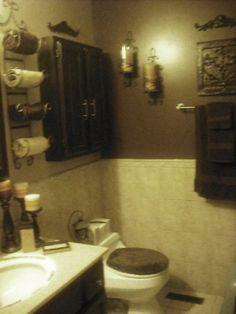 Guest Bathroom Wall Decor home decor wall art green and brown bathroom | wall art