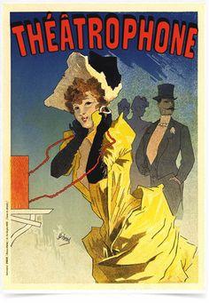 Poster The Belle Epoque Theatrophone impresso com tecnologia HighHD de alta definição em papel semi-glossy especial com gramatura 250g no tamanho A3 (42x29cm) com cores vibrantes.