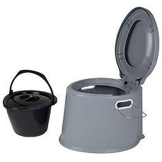 BO CAMP Campingtoilette - Kompost Toilette Eimer Reise Camping WC Mobil Bau Klo