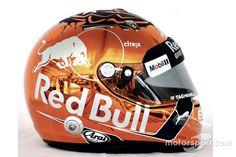 Casco de Max Verstappen, Red Bull Racing at GP de Bélgica - F1 Fotos