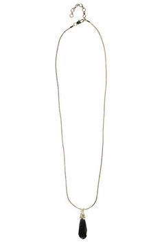 Lilly Oversize Cut Glass Pendant Necklace at boohoo.com