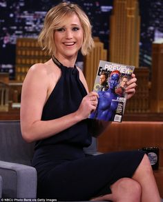 Promotional trail: Jennifer appeared on Jimmy Fallon to promote her new movie X-Men: Days Of Future Past