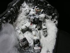 Gunpla Diorama: 1/144 Gundam Ground Type, recreated scene from The 08th MS Team Episode 7. Photoreview Big Size Images