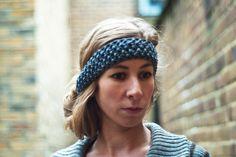 Hers Headband in tweed grey  #woolosophy #knitting