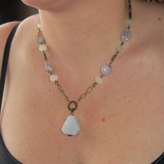 Druzy Quartz  Blue Lace Agate & Chalcedony mixed with by Envy2, $36.00