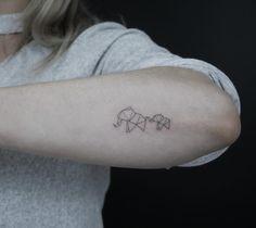 Geometric Elephants | Tattoo | by Jakub Nowicz (@jakubnowicztattoo) | ❥