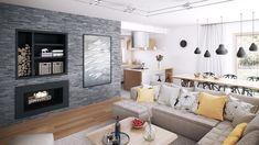 278 000 zł Beautiful House Plans, Beautiful Home Designs, Cool House Designs, Bungalow House Plans, Dream House Plans, Small House Plans, Home Design Floor Plans, Concept Home, Charming House