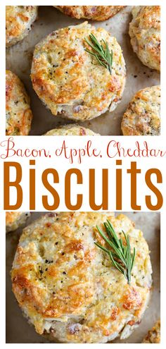 White Cheddar, Bacon, and Apple Biscuits - Baker by Nature Savoury Biscuits, Buttery Biscuits, Homemade Biscuits, Recipe For Cheddar Biscuits, Breakfast Biscuits, Brunch Recipes, Breakfast Recipes, Vegetarian Recipes, Cooking Recipes