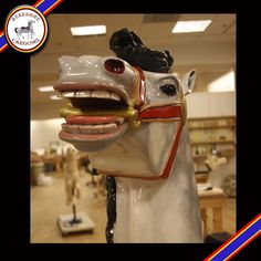 Lady Jane one of our hand carved horses going on our carousel. Photo by Katy Levesque 2013.