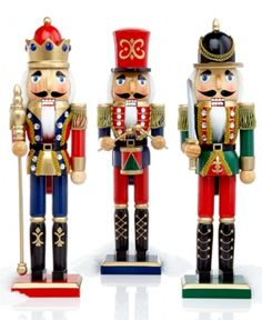 Great center piece for Holiday Lane Coat Nutcracker Assortment - Christmas Decorations - Holiday Lane - Macy's Christmas Figurines, Disney Figurines, Christmas Art, Beautiful Christmas, All Things Christmas, Christmas Holidays, Xmas, Christmas Ornaments, Nutcracker Christmas Decorations