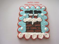 uh-oh Santa got stuck... maybe too many cookies? Fun by Cristin's Cookies