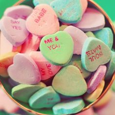 Candy Hearts Photo, Me and You Valentine 5x5 Print, Shabby Chic Photography, Love, Wedding Art