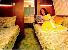 Vintage 1970s Airstream Photos This looks a lot like our 1971 Tradewinds Land Yacht! Except better carpet and bedspreads!