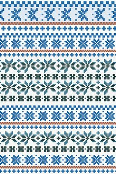 fair isle pattern 1 by gin!?, via Flickr