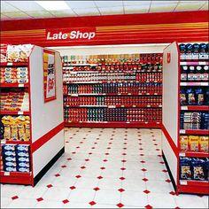 Euro Fixture Late Shop Night-Vision Branding – Fixtures Close Up Supermarket Shelves, Supermarket Design, Convinience Store, Indian Grocery Store, Gondola, Bakery Decor, Fruit Shop, Ceiling Design, Motion Design