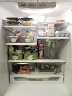 An organized fridge.>>this makes me smile, because I remember having this once....