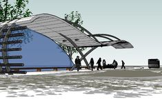 bus stop project Architecture Concept Diagram, Landscape Architecture, Architecture Design, Garage Canopies, Bus Stop Design, Edgewater Park, Module Design, Bus Shelters, Eco City