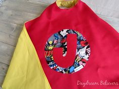 Personalized Superhero Dress Up Cape for Boys and Girls Fully Lined Handcrafted in the USA by Daydream Believers Designs #ringbearer #wedding #giftsforkids #handmade