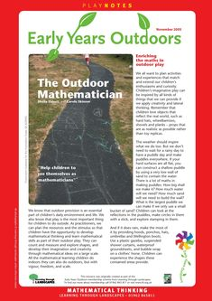 Discover how your child can become an outdoor mathematician!