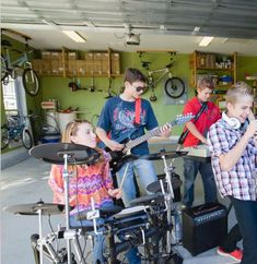 Your garage can be used for much more than a place to park the car. Get inspired here. Baby Strollers, Garage, Bike, Inspired, Park, Children, House, Inspiration, Ideas
