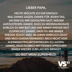 Dear Dad, today I just want to say thank you. Thanks for every day … - Modern I Love My Dad, Mom And Dad, Papa Tag, Dad In Heaven, Deep Talks, Dear Dad, Feeling Nothing, Magic Words, Frases