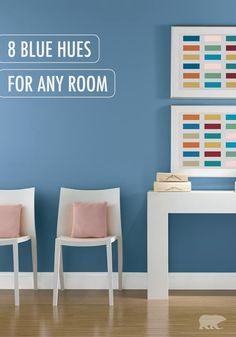 Behr Paint In Bluebird Complements Rose Colored Accent Pillows Perfectly For Even More Refreshing Design
