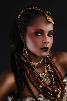 African Tribal I African Beauty, African Women, African Voodoo, Tribal Looks, Fantasy Portraits, African Fashion Designers, Model Face, My Black Is Beautiful, Beautiful Pictures