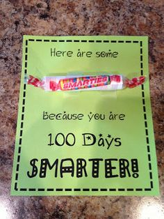 I passed out these fun snacks on the 100th Day of School!