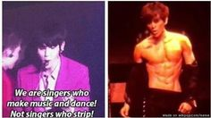 Say that again Baekhyun?? to be honest his abs are so nice that I can't believe he has abs now