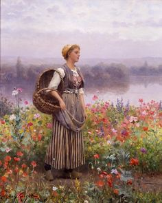 Daniel Ridgway Knight The Flower Girl painting anysize 50% off