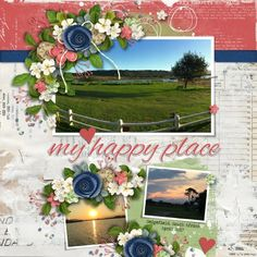 Kit and Template Our House by Heartstrings Scrap Art. Heartstrings, My Happy Place, Digital Scrapbooking, Floral Wreath, Layout, Wreaths, Templates, Kit, Creative