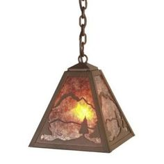 Steel Partners Timber Ridge 1 Light Outdoor Pendant Finish: Architectural Bronze, Shade Type: Khaki