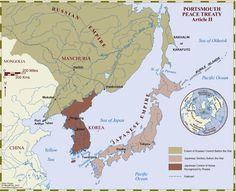 Guerra Russo-Japonesa: Conquista da Coreia (o Japão tb queria a Manchúria). Conquistou tb parte da ilha de Sacalina.